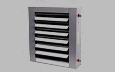 Louvered serpentine fins / in line tube arrangement